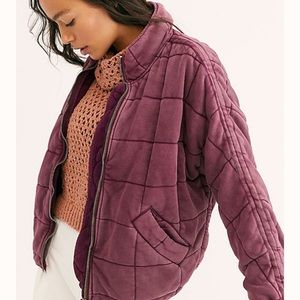 FREE PEOPLE Quilted dolman jacket size small